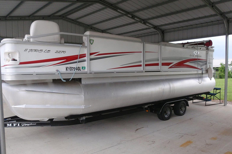 Skippers Marine offers boat storage covered outdoors